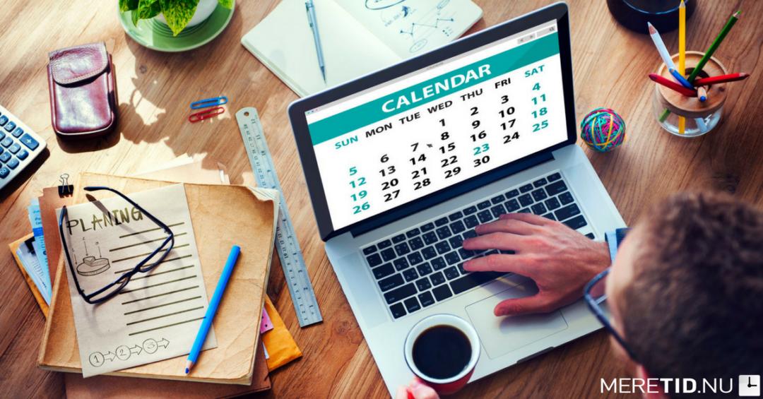 Den vigtigste måde at bruge din kalender på