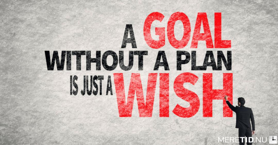 Når du skal lykkes med dine mål